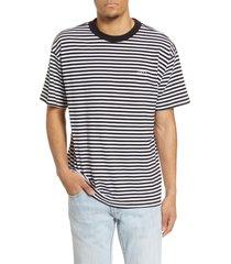 men's obey ideals stripe logo t-shirt, size small - black
