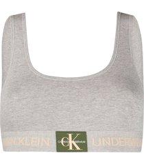 calvin klein underwear jersey bra - grey