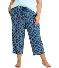 charter club plus size cotton capri pajama pants, created for macy's