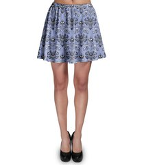 haunted mansion wallpaper skater skirt