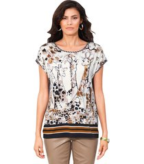 shirt amy vermont wit::beige::zwart