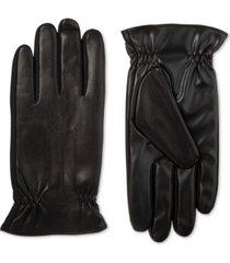 isotoner signature men's sleekheat faux nappa gloves