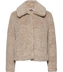 sherpa short coat outerwear faux fur beige banana republic