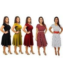 dbg women's short sleeve scoop neck polyester dress (4x, yellow)
