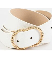 jazmine twisted double circle belt - white