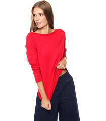 sweater rojo tommy hilfiger ivy new boat-nk swtr