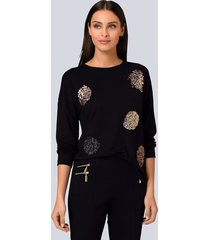 shirt alba moda zwart::roodgoudkleur