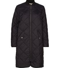 livia quilted jacket doorgestikte jas zwart lexington clothing
