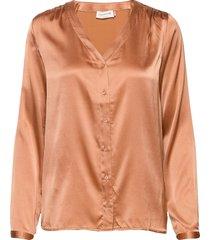 shirt ls blouse lange mouwen roze rosemunde