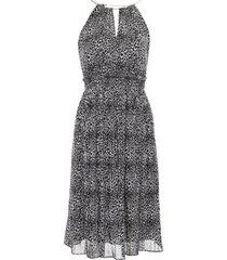 michael michael kors leopard printed dress