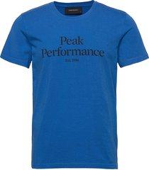m original tee the alpine t-shirts short-sleeved blå peak performance