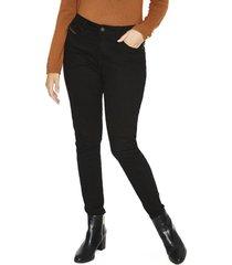 jeans pierna recta liso negro curvi