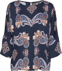 blouses woven blus långärmad blå esprit collection