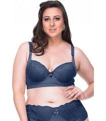 suti㣠sempre sensual lingerie retr㴠marinho - azul - feminino - poliamida - dafiti