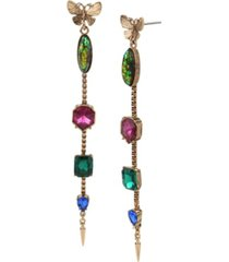 betsey johnson butterfly linear earrings