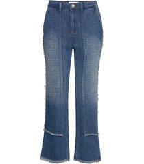 ameli jeans wijde pijpen blauw blanche