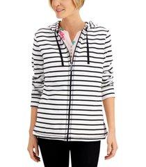 karen scott long striped hoodie, created for macy's
