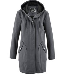 parka in softshell con cappuccio (grigio) - bpc bonprix collection