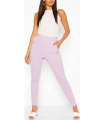 casual skinny broek met pastelzakjes, lila