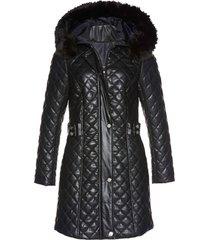 cappotto corto trapuntato in similpelle (nero) - bpc selection premium