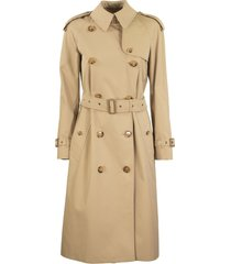 burberry bridstow archive scarf print-lined trench coat