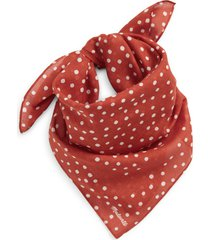 madewell bandana in faded rust at nordstrom