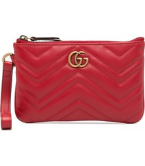 gucci gg marmont wrist wallet - red