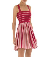 alexis barbara women's lintov mini dress - mauve stripes - size m