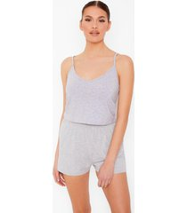 basic mix & match pyjama hemdje, grey
