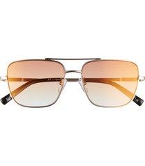 le specs hercules 56mm aviator sunglasses in bright gold/black/lava at nordstrom