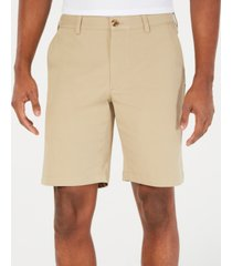 "club room men's regular-fit 9"" 4-way stretch shorts, created for macy's"