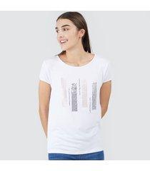 camiseta mujer barras lentejuelas