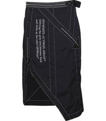 off-white black asymmetric skirt