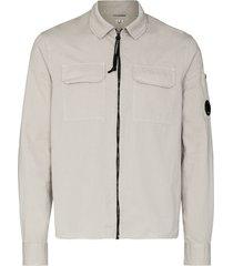c.p. company zip-up shirt - grey