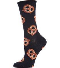 memoi women's hot pretzel crew socks