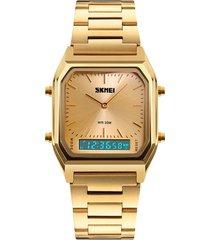reloj de hombre de negocios skmei acero inoxidable macho simple moda retro multifuncional reloj reloj de cuarzo de alta gama