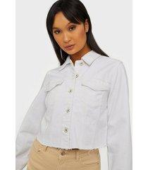 pieces pcnill ls denim jacket white-vi bc jeansjackor