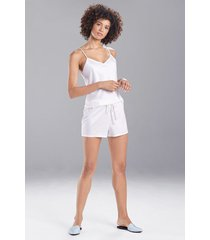 natori feathers satin elements shorts pajamas, women's, white, size xl natori