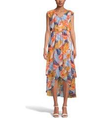 inc printed tiered midi dress, created for macy's
