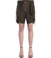 saint laurent laced military shorts
