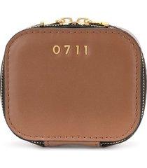 0711 small ela cosmetic bag - brown
