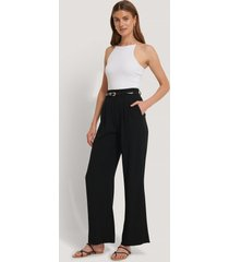 na-kd classic flared pants - black