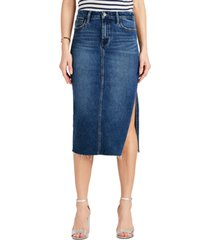 sam edelman the maribelle side-slit denim skirt