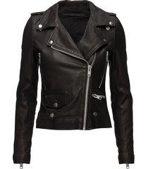 seattle leather jacket läderjacka skinnjacka svart mdk / munderingskompagniet