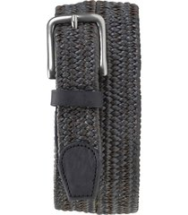 men's trask falcon woven leather belt, size 36 - gray braided