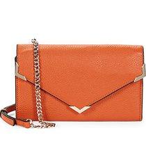 pebbled leather envelope crossbody bag