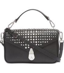 calvin klein leather lock shoulder bag
