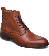 biabyron leather lace up boot snörade stövlar brun bianco
