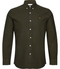 brewer slim fit cotton oxford shirt skjorta business grön farah
