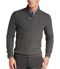 joseph abboud black button shawl sweater